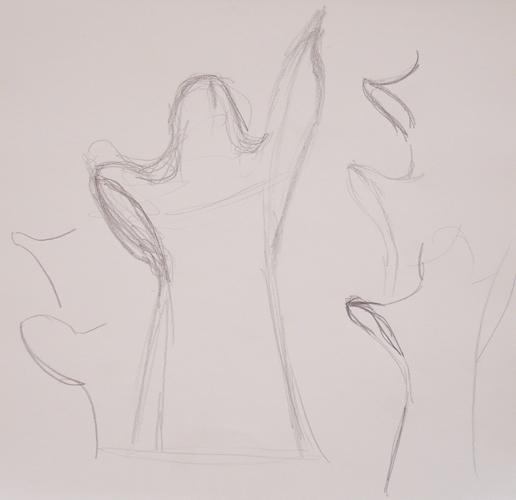reaching sketches k